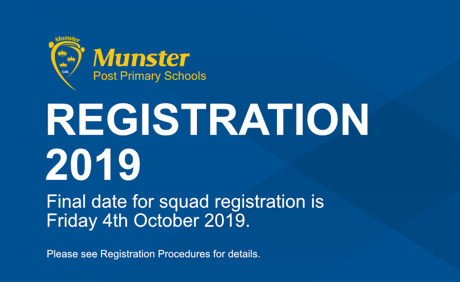 Registration 2019 now open