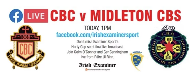 2019/2020 Dr. Harty Cup Hurling Semi-Final – CBC Cork 2-11 Midleton CBS 0-16